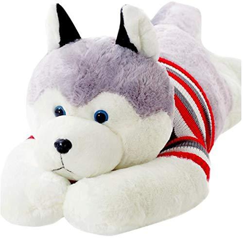 Precioso Perro Husky Siberiano Realista de Felpa Juguetes de Peluche muñecas Almohada de Felpa cojín Mascota Perro bebé niños Regalos 65cm