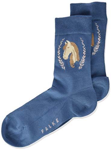 FALKE Unisex Kinder Horse K SO Socken, blau (denim 6062), 23-26 (2-3 Jahre)
