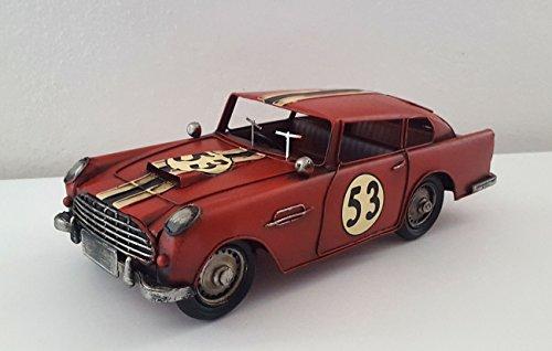 LB H&F Blechmodell Rennwagen Sportwagen 31x13x10 cm Gross Blechauto Vintage Deko (Rot)