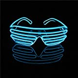 LERWAY Party Brillen Spielzeug EL Neon Draht Brille LED Partybrille Sonnenbrille Halloween...