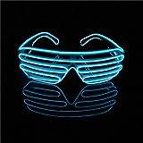 LERWAY Party Brillen Spielzeug EL Neon Draht Brille LED Partybrille Sonnenbrille Halloween...