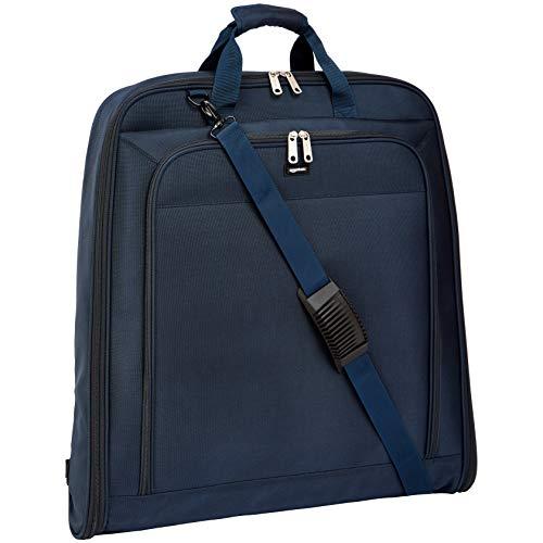 Amazon Basics - Portatrajes de calidad prémium XL, Azul marino - 1,14m