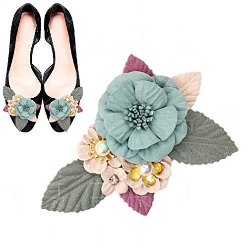 ZOYLINK 2 STÜCKE Blumenschuhe Patch DIY Schuhe Applique Aufnäher Für Schuhtaschen Annähen