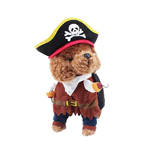 Bocotoer hond kat piraat kostuum grappige Dressing up Corsair pak met hoed voor huisdier partij kleding