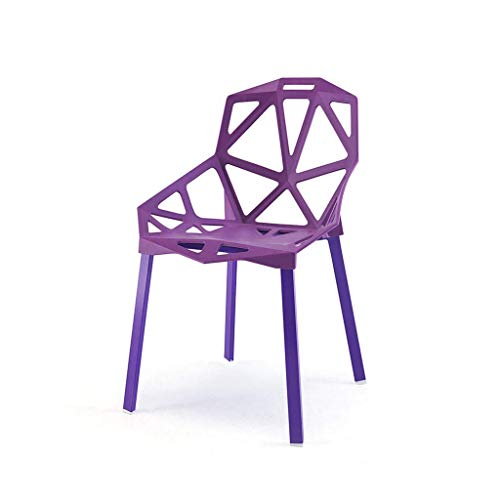 N/Z Daily Equipment Hollow Dining Chair Backrest Folding Multicolor Office Chair Plastic No Armchair Lazy Chair Living Room Kitchen Restaurant Terrace Simple and Comfortable 2