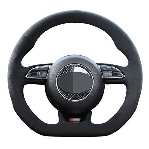 MIOAHD Coprivolante Nero per Auto, Adatto per Audi S3 8V Sportback S1 8X S4 B8 Avant S5 8T S6 C7 S7 G8 RS Q3 8U SQ5 8R