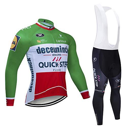 Autunnale Abbigliamento da Ciclismo,Tuta da Allenamento per Uomo Maniche Lunghe Tuta Sportiva
