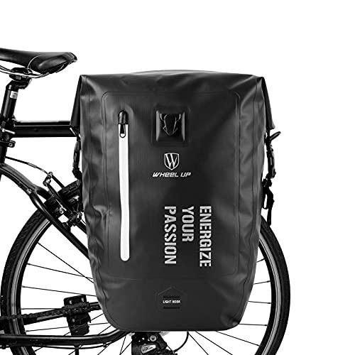 BAIGIO 25L / 35L Multi-Tasca Borsa per Bicicletta Impermeabile Borse Portapacchi Posteriore Bici MTB Sacchetto della Bicicletta per Ciclismo e Viaggio (Nero)
