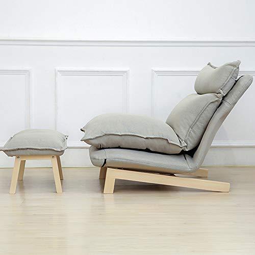 Tiantian-sofa T-T-H Sofá Perezoso Moderno sillón Minimalista Dormitorio sofá Silla de pie Silla de Piso Plegable reclinable Ajuste (Color : A)