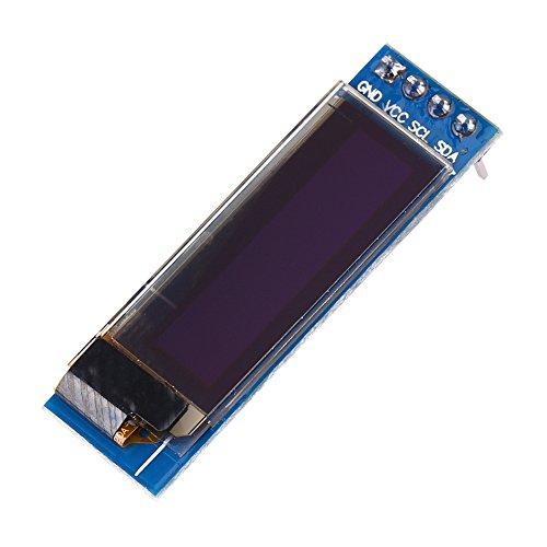 0,91'' 128x32 IIC I2C SPI Module d'Affichage Écran OLED Sériel Caractères Bleus pour Arduino