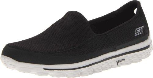 Skechers Skechers GO Walk 2, Herren Sneakers, Schwarz (Black/Grey), 40 EU (6.5 UK)