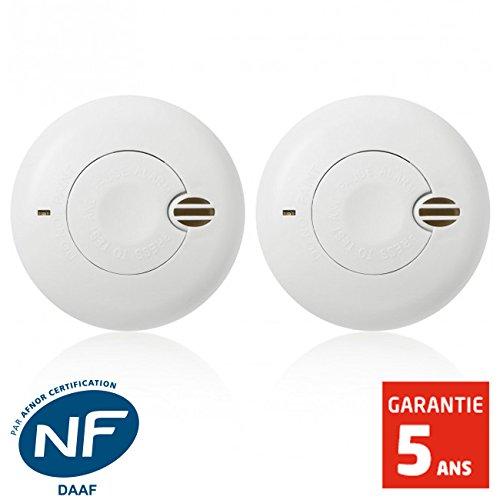 classement un comparer Angeleye – Deux détecteurs de fumée NF Angeleye ORIGINAL DUO SO-501-AE-FR-1 an d'autonomie – Garantie…