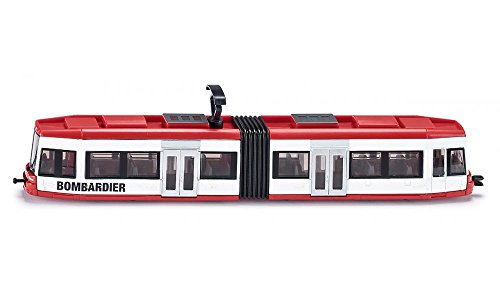 siku 1895, Straßenbahn, 1:87, Metall/Kunststoff, Rot/Weiß, Kompatibel mit anderen siku Spielzeugen