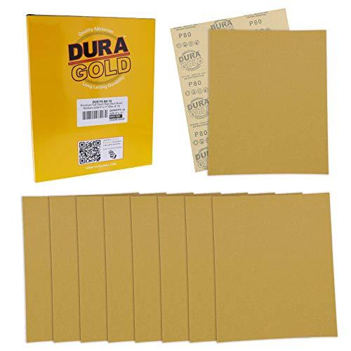Dura-Gold Premium Sandpaper - 80 Grit - Full Size 9