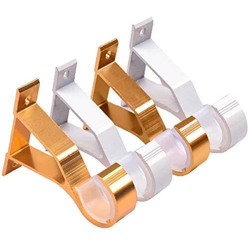 4 Pezzi Staffe Per Aste Per Tende In Alluminio Staffa Per Bastone Per Tende Supporto Staffa Per...