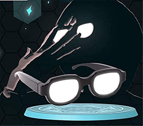 Anime Japón Gafas de luz LED Gafas Luminoso Traje de escenario Divertido accesorio de cosplay Gafas de broma para adultos