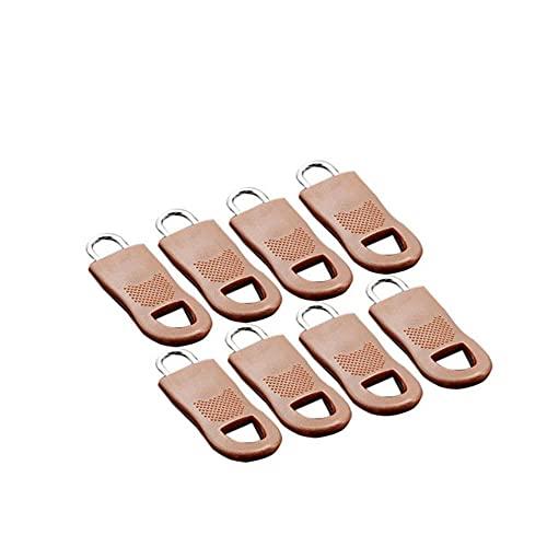 Kit de reparación de cremalleras de metal desmontable, etiquetas, fijador de cremalleras para ropa, tirador de cremalleras negro, deslizador para el hogar, bolso, maleta, tela-China, pequeño 8 piezas