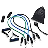CORATED Resistance Bands Set - Beginner - Professional - Exercise Band for Working Out - Includes Stackable Workout Bands, Handles, Ankle Straps and Carry Bag