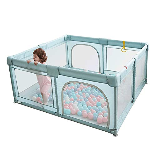 YOBEST Baby Playpen, Playpens for Babies, Extra Large Infant Playard with Gates, Portable Babys Fence, Indoor & Outdoor Toddler Play Pen Activity Center, Sturdy Safety Baby Play Yard