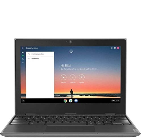 2020 Lenovo 100e 2nd Gen 11.6' Anti-Glare HD Business, Student Chromebook Laptop, Quad-Core MT8173C CPU, 4GB RAM, 32GB eMMC+128GB IST SD Card, Type C, WiFi AC, Webcam, Chrome OS (Renewed)