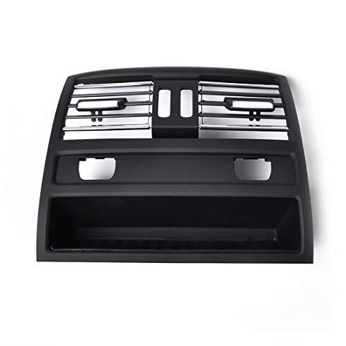WANGZHEXIA Tira de protección del coche de la galjanoplastia de la consola trasera de la parrilla Dash AC aire ventilación con agujero de calefacción 64229158312 para BMW serie 5