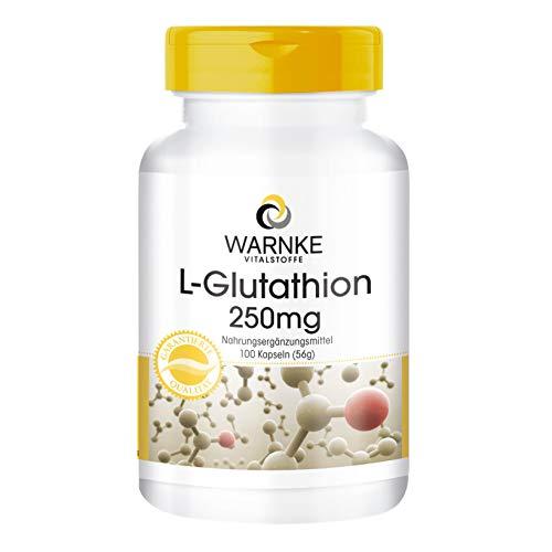 L-Glutathion Kapseln - 250mg reduziertes L-Glutathion pro Kapsel - vegan - 100 Kapseln