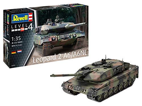 Revell REV-03281 Panzermodell Leopard 2 A6/A6NL, Maßstab 1:35, 31,3cm Toys, unlackiert, 1/35