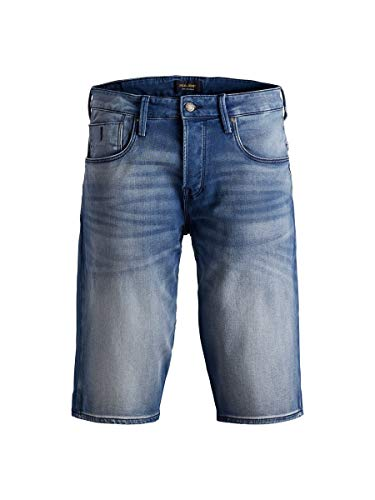 JACK & JONES Herren Jjiron Jjlong Ge 851 I.k. STS Shorts, Blue Denim, XL