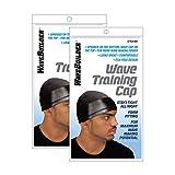 Wavebuilder Wave Training Cap, Black, 2 Pack