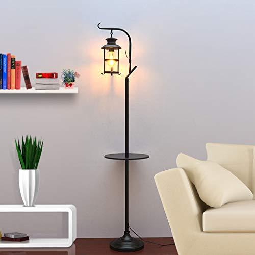 ZH-VBC Stehlampe Laterne, Industrielle Stehlampe, Rustikale Vintage Glas Stehlampe, Retro Kunst Laterne Lampe, für Wohnzimmer Lesen Schlafzimmer Büro Wohnkultur Cafe Bar Restaurant
