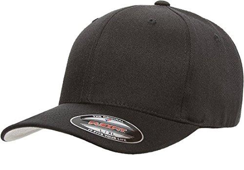 Flexfit mens Flexfit Wool Blend Hat, Black, Large-X-Large US