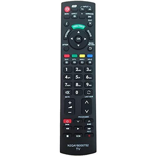 Reemplazo Mando para Panasonic TV N2QAYB000752 Universal Mando a Distancia - para Panasonic TX-TX-L32G20E L37G20E TX-TX-P42GW20 P42G20E TX-TX-L42G20E P46G20E