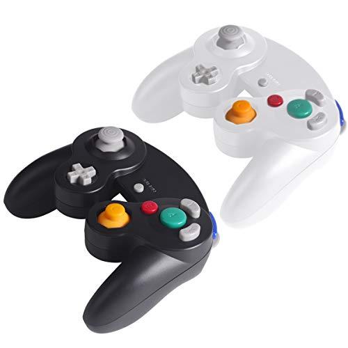 Gamecube Controller Joystick für Wii Wired Game Controller Joypad Dual Vibration NGC Gamepad Game Cube Original Controller Gamecube Spiele für GC (Schwarz&Weiß)