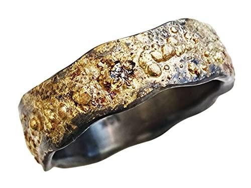mens wedding ring celtic, diamond engagement ring gold silver, viking wedding band diamond, rustic mens ring diamond, mens silver ring