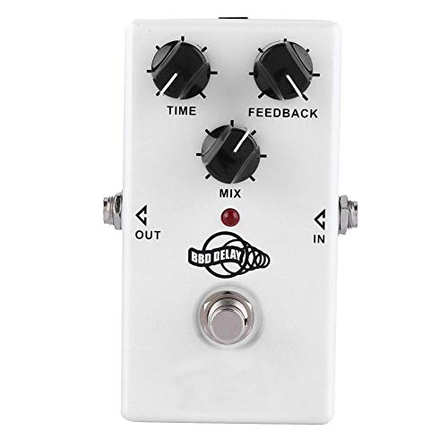 Guitar Delay Effect, Twinote BBD Delay Electric Guitar BBD Analog Delay Monoblock Effect Pedal Mini Single Type DC 9V
