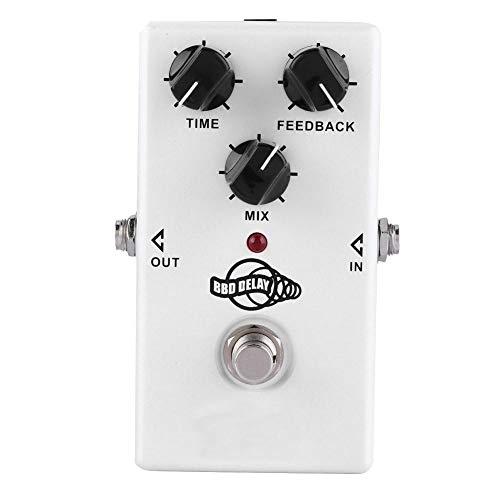 Pedal de retardo de Efecto de Guitarra, Twinote BBD Delay Guitarra eléctrica BBD Analog Delay Monoblock Effect con True-Bypass Switch