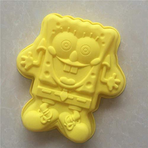 Baking Diy 28,5 cm Große Spongebob Schwammkopf Form Cartoon Silikon Kuchenform Kreative Kuchenform Küchengeschirr Diy Form In Kuchenformen Küchenbedarf,Ein