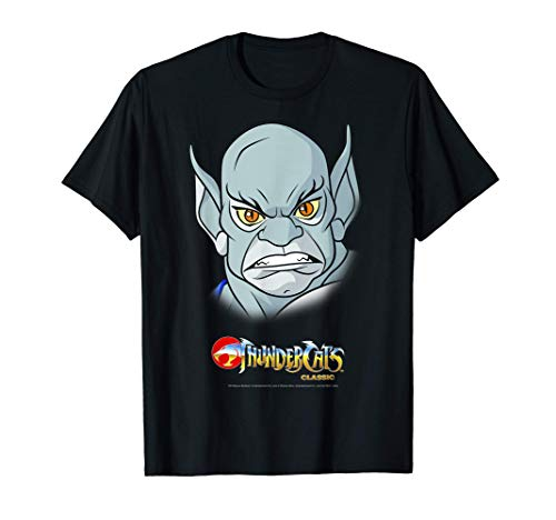 ThunderCats Panthro Big Face and 80s Logo T-Shirt for Adults, S to 3XL