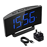 Mpow Digital Alarm Clock, Digital LED Clock Bedside Mains Powered with Snooze Function