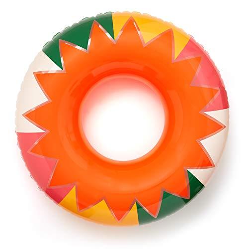 ban.do Float On Giant Colorful Inner Tube Float for Beach/Pool, Sunburst