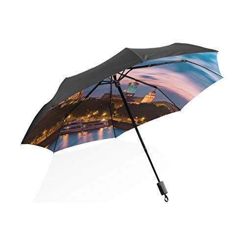 Totes Regenschirm Winddicht Wunderschöne Romantische Kölner Dom Tragbare Kompakte Taschenschirm Anti Uv Schutz Winddicht Outdoor Reise Frauen Kleine Regenschirme Für Frauen