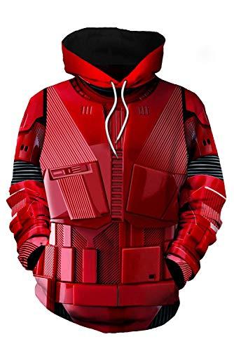 Bilicos Kapuzenpullover Sweatshirt Hoodie Print Tops Jacke Pullover Sweatjacke Outwear Wars Sith Trooper (Brustumfang 116cm)