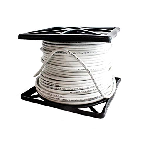 Perfectflex Coaxial Cable 6 Series 500 Ft Rg6 Trishield 77 Braid White Color Copper Clad Steel