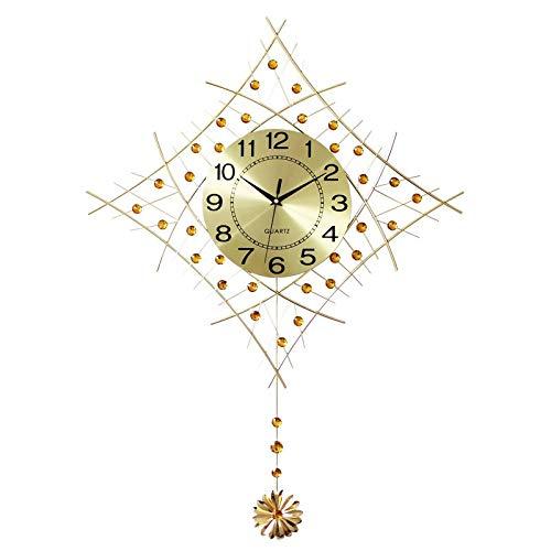 YIWANGO Uhrwanduhr Wohnzimmer Moderne Minimalistische Persönlichkeit Uhren Europäischen Wanduhr Schlafzimmer Ruhigen Quarzuhr,Gold