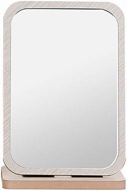 CCLLA Miroir à Pansement, Miroir de Maquillage en Bois Pliable en HD Bureau Beauty Dressing Book Book Grand Miroir Portable P