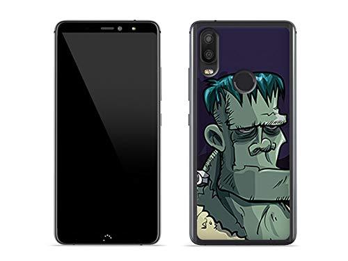 etuo Hülle für BQ Aquaris X2 - Hülle Fantastic Hülle - Frankenstein Handyhülle Schutzhülle Etui Hülle Cover Tasche für Handy