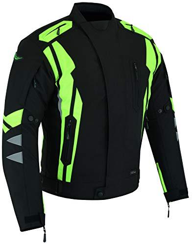 RIDEX Hochsichtbare wasserdichte Motorrad Jacke Herren Schutz Größe L Schwarz/Gelb – schwarz / gelb - 8