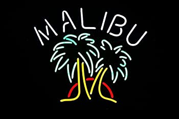 Desung Brand New 20 x16  Malibu Rum Drinks Neon Sign  Various sizes  Beer Bar Pub Man Cave Business Glass Neon Lamp Light DB239