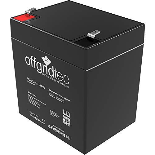 Offgridtec 2-01-001475 4.2Ah Akkui 4,2Ah / C10 AGM Solar Batterie für zyklische Anwendungen, 12 V