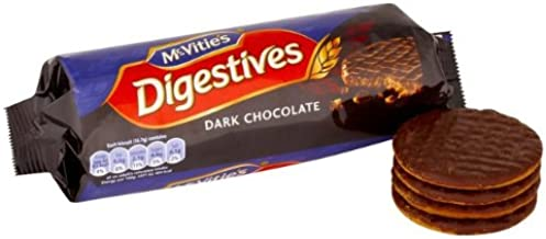 McVities Dark Chocolate Digestive (英国製 マクビティ・ダークチョコレートダイジェスティブ ビスケット)300g x 3ケ 【並行輸入品】【海外直送品】
